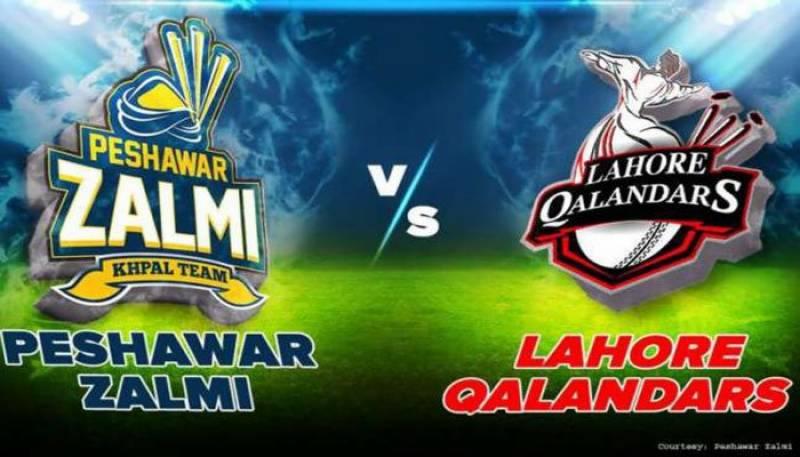 پشاور زلمی کیخلاف لاہور قلندرز کی بلے با زی جا ری