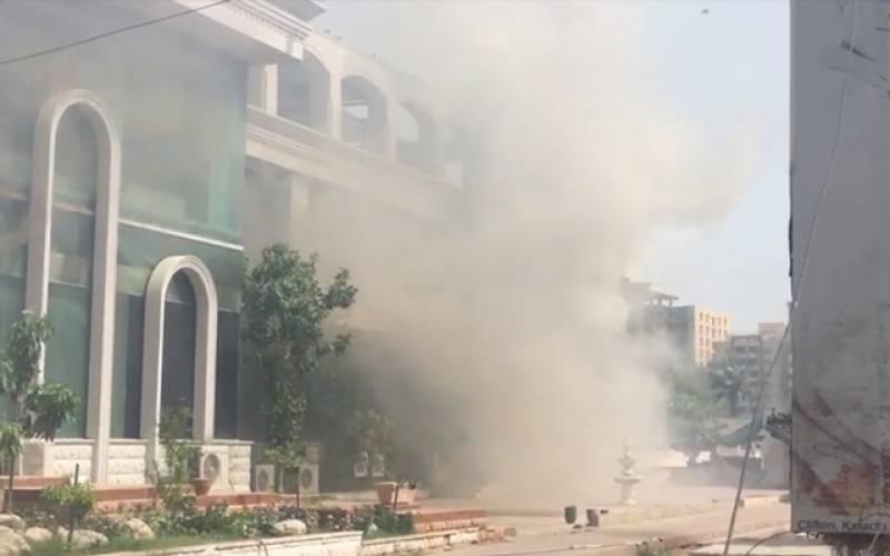بلاول ہاﺅس میڈیا سیل کی عمارت میں آتشزدگی