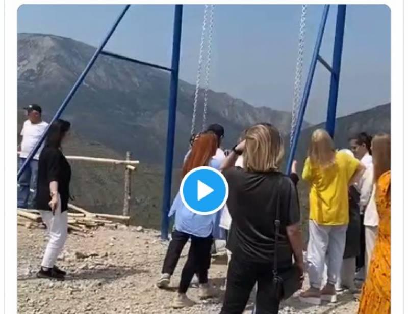 جھولا ٹو ٹنے سے دو خوا تین چھ ہزار فٹ کی بلندی سے گرنے کے باوجو د زندہ مگر کیسے ۔۔دیکھئے ویڈیو
