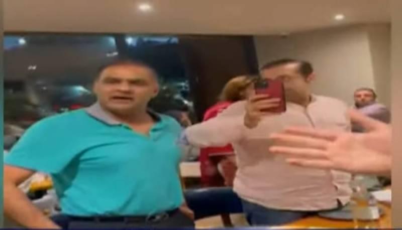 لندن کے ریسٹورنٹ میں عابد شیر علی کی فیملی کے ساتھ تکرا ر کی ویڈیو سا منے آگئی