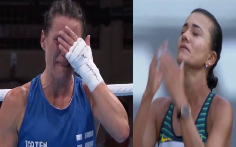 ٹوکیو اولپمپکس میں ہار جیت کے بعد کھلاڑیوں کے جذباتی مناظر کی ویڈیو جاری ۔بھارت نظر انداز