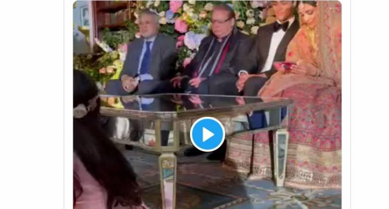 مریم نواز کے بیٹے جنید صفدر کی نکاح کی تقریب کی ویڈیوز وائرل