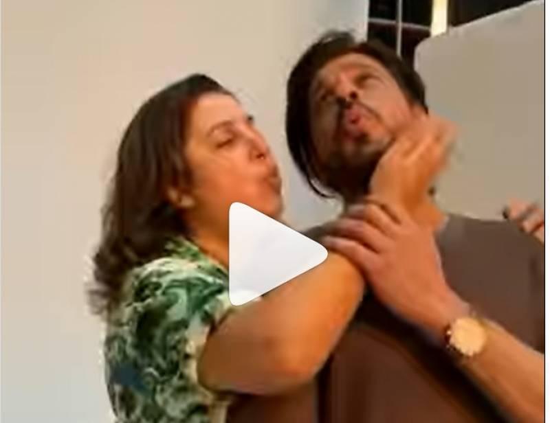 کس کا ہے یہ انتظار تم کو ،میں ہوں ناں ۔۔شاہ رخ خان کی فرخ خان کے ساتھ ڈانس ویڈیووائرل